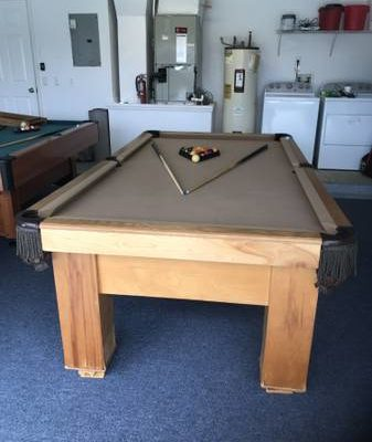 8 Foot Slate Pool Table Brand New Felt