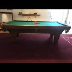 Hard Wood Pool Table