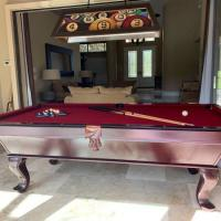8ft Pool Table Solid Wood and Slate