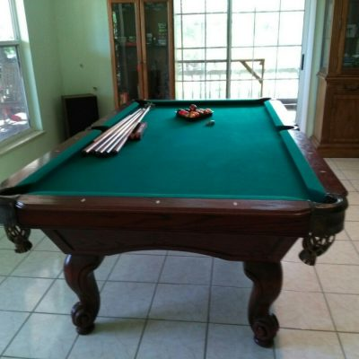 Proline 8' Altamonte Springs Pool Table, solid oak, slate, excellent condition, includes accessories